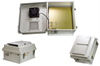 14x12x7 Inch 120 VAC Weatherproof Enclosure with Heater and 85° Turn-on Cooling Fan -- NB141207-1HF-1 -Image
