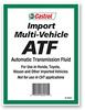 Import Muti-Vehicle ATF -- 16001 - Image