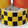 Warning Stripe & Check Tape (B-950; Black and Yellow; (black & yellow checks); Vinyl) -- 754476-76319