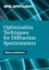 Optimization Techniques for Diffraction Spectrometers -- ISBN: 9781628418439