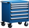 Heavy-Duty Mobile Cabinet, with Partitions -- R5BDD-3007 -Image