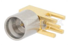 SMP Male Right Angle Full Detent Connector Solder Attachment Thru Hole PCB -- PE44934 -Image