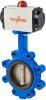 Pneumatic Actuated Butterfly Valve -- DynaFly Series - 700/722 Series -Image