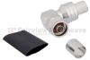 Right Angle N Male (Plug) Connector For LMR-600 Cable, Crimp/Non-Solder Contact -- EZ-600-NMH-RA-X -Image