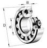 1200 Self Aligning Standard Angular Contact Ball Bearings -- 1218