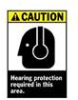 Brady Caution Hearing Protection Required in This Area Signs -- sf-19-038-059