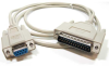25ft DB9 Female to DB25 Male Null Modem Cable -- NU41-25