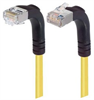 Shielded Category 6 Right Angle Patch Cable, Right Angle Down/Right Angle Up, Yellow, 2.0 ft -- TRD695SRA4Y-2 -Image