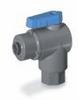 Ball valve, 2-way right angled, BUNA, 1/4