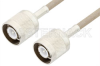 SC Male to SC Male Cable 12 Inch Length Using RG141 Coax , LF Solder -- PE34439LF-12 -Image