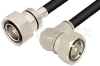 7/16 DIN Male to 7/16 DIN Male Right Angle Cable 60 Inch Length Using RG214 Coax -- PE38584-60 -Image