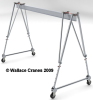 Tri-Adjustable Aluminum Portable Gantry Crane -- A6T10-A10