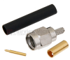 SMA Male (Plug) Connector for RG316, RG174, RG188, LMR-100A, LMR-100A-FR, 0.100 inch Cable, Solder