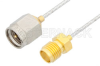 SMA Male to SMA Female Cable 60 Inch Length Using PE-SR047FL Coax, RoHS -- PE34228LF-60 -Image