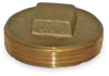 Square Head Plug,Brass,2 In,NPT -- 1RLW2