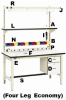 FOUR LEG ECONOMY ERGONOMIC BASE WORK STATION -- HHD7030P/HDLE