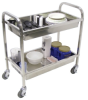 2 Tub Stainless Steel Cart - 33.5