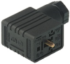 GMN DIN Standard Field Attachable Connector: Form B, 3-pin (2+1PE), 0, black housing, screw type, M16; without circuitry, 230 V AC/DC, 16 A -- GMN 216 NJ black - Image