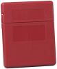 Justrite Red Polyethylene Flip Top Document Storage Box - 10 1/4 in Width - 12 1/2 in Height - 23303 -- 23303
