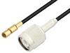 SSMC Plug to TNC Male Low Loss Cable 36 Inch Length Using LMR-100 Coax -- PE3C4434-36 -Image
