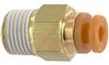 Fitting, Pneumatics; straight male; metal body; 1/8NPT port; 1/8 tube OD -- 70070326