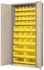 Cabinet, Flush Door Bin Cabinet, w/42 AkroBins -- AC3618YPUT - Image