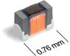 026011F (0201) Miniature RF Chokes -- 026011F-101 - Image