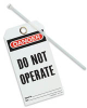 English Lockout Tag Danger - Do Not Operate Rigid Vinyl -- 07498397941-1