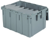 Akro-Mils Keepbox 28.57 gal 100 lb Gray Industrial Grade Polymer Attached Lid Container - 28 in Length - 21 in Width - 15 1/2 in Height - 39280 GREY -- 39280 GREY