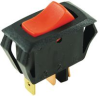 SWITCH, ROCKER, SPST, 10A, RED -- 32M5265