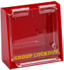 Brady Prinzing Yellow on Red Acrylic Group Lockout Box 45577 - 6 in Width - 6 in Height - 6 Padlock Capacity - 754476-45577 -- 754476-45577 - Image