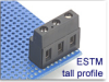 Power I/O Fixed Terminal Block -- ESTM Tall Profile Series -- View Larger Image
