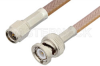 SMA Male to BNC Male Cable 72 Inch Length Using RG400 Coax, RoHS -- PE3613LF-72 -Image
