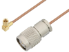 SSMC Plug Right Angle to TNC Male Cable 48 Inch Length Using RG178 Coax -- PE3C4468-48 -Image