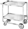 CARTS - Utility, Heavy Duty, 650 Lb Capacity, Stainless Steel, Lakeside, 21 x 49 (21), 22 3⁄8x 54 5⁄8x 37 -- 1161101