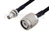 Slide-On BMA Plug Bulkhead to TNC Male Cable 24 Inch Length Using PE-SR402FLJ Coax -- PE3C4915-24 -Image