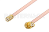 SMP Female to SMP Female Right Angle Cable 48 Inch Length Using RG405 Coax, RoHS -- PE36158LF-48 -Image