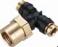 PTC Composite Push-In Air Brake Fittings -- Female Branch Tee Swivel 377PTC