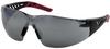 PIP Q-Vision 250-36 Polycarbonate Safety Glasses Silver Mirror Lens - Black Frame - Wrap Around Frame - 616314-15680 -- 616314-15680