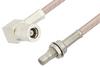 SMB Plug Right Angle to SMB Jack Bulkhead Cable 60 Inch Length Using RG316-DS Coax, RoHS -- PE33349LF-60 -Image