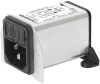 IEC Appliance Inlet C14 with Filter, Fuseholder 1- or 2-pole, for PCB Mounting -- DA22 - Image