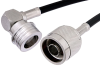 N Male to QN Male Right Angle Cable 36 Inch Length Using RG58 Coax -- PE38489-36 -Image