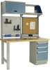 Workstation with Laminated Wood Top -- LC2105L3C -Image