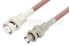 MHV Male to SHV Plug Cable 24 Inch Length Using RG142 Coax -- PE3085-24 -Image