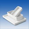 Opaque Fused Quartz Labware Rectangular Trays -- RT13X6X1.4