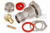 TNC Female Bulkhead Connector Clamp/Solder Attachment For PE-SR402AL, PE-SR402FL, RG402, .480 inch D Hole -- PE4150 -Image