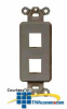 Hubbell 2-Port Outlet Frame Unloaded (Package of 10) -- ISF2BK - Image