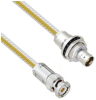 Teflon Jacket Cable Assembly TRB 3-Slot Plug to Insulated Bulk Head 3-Lug Cable Jack .236