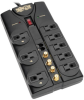 Protect It! 8-Outlet Surge Protector, 10-ft. Cord, 3240 Joules, Tel/Fax/Modem/Coax Protection, RJ11 -- TLP810SAT