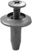 Push In Rivet 18mm,Black,PK 25 -- 5NCV7 - Image